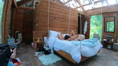 Passionate, Hardcore RAW Sex on a Swinging Bed