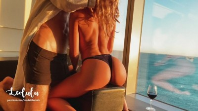 Beautiful Sensual Sextape by the Window at Sunset! Intense Amateur Sex LeoLulu