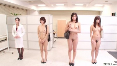 Bizarre CMNF JAV Nudist Insurance Saleswomen Subtitled UNCENSORED