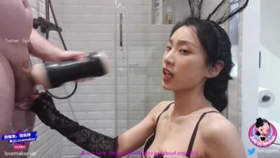 June Liu 刘玥 / SpicyGum - Chinese Babe trying new Toys / PART 1 / Pornhub Toys Unboxing!