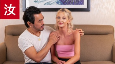 Asian Guy makes Dick Pounding Delivery for Horny Blonde Girl AMWF - BananaFever