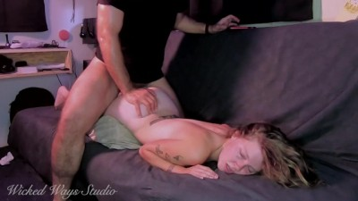 20 Year old Hot Babysitter Takes a Rough Fucking for Extra Cash!
