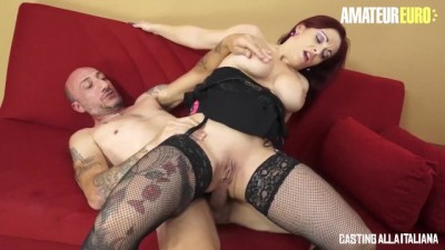 AmateurEuro - Rough Anal SEX with Redhead Italian MILF