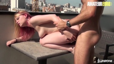 AmateurEuro - French Hot Step Sister Ass Fucked with a View on the Rooftop