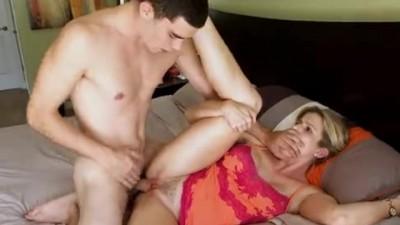 Stepson Cums of Age Mom