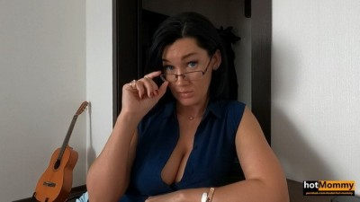 Big Tits MILF Step Aunt Teaches not only Math