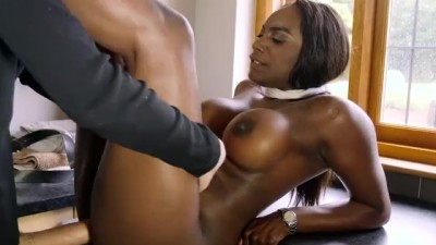 Big Tit Ebony Slut Gets A Big Dick Workout