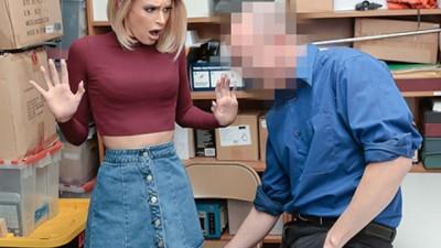 ShopLyfter - Emma Hix security guard fucks hard