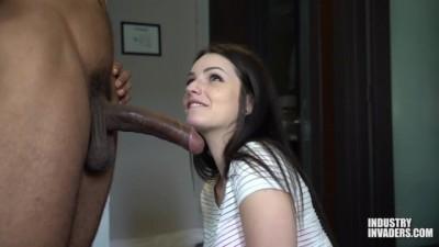 Petite Cute Babe takes Black Big Cock!