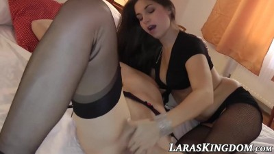 Milf and Petite Lesbians takes fingering