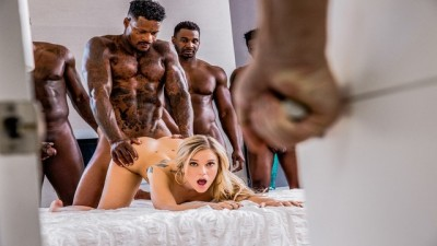 BLACKED - Kali Rose Gets Gangbang Rough Sex By Six BBCs