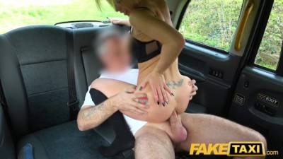 Fake Taxi - Hotblonde Barbie Sins gets fucking in car