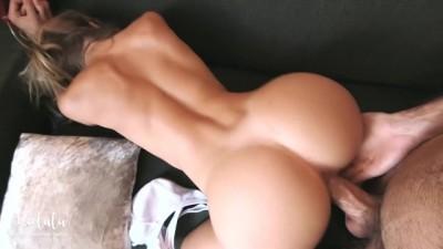 Sexy girlfriend doggy-style fucked hard