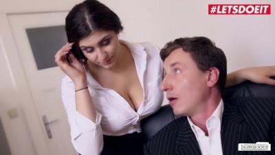 LETSDOEIT - Horny Young Secretary  Gives Boss Cock