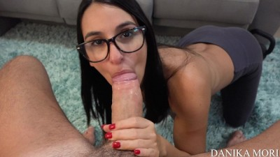 POV - Special kiss and amazing blowjob SO HOT!!!