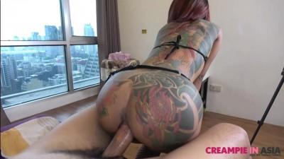 Small horny Thai girl fucked hard