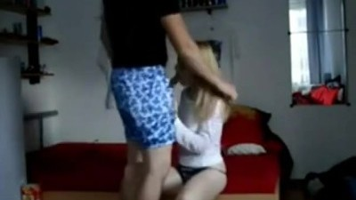 The blonde step-sister can't stand her brother's dick