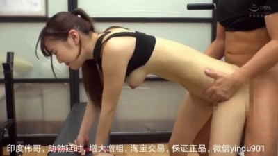 Asian chick fucks in gym