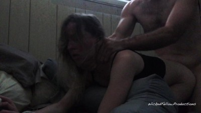 Petite Blonde Screams as She gets her Rough Ass Fucked