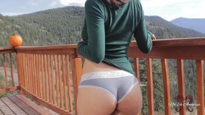 Sweet Tight Ass Babe Risky Public Sex