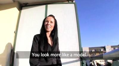 Sexy Stunning Estate Agent Sells Herself POV
