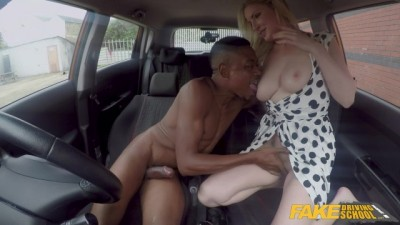 Horny Blonde Georgie Lyall gets a Huge Black Cock in her Pussy