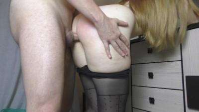 Rough Fuck Blonde Teen Big Ass in Sexy Pantyhose