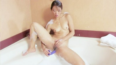 Skinny chick likes to play with toys