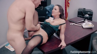 Sexy Secretary Abigail Mac Secret Fucks her Big Boss