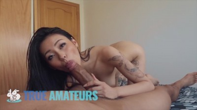 Petite Busty Asian Takes Big Cock