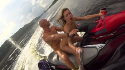 Public Crazy Anal Ride on the Jet ski - Johnny Sins with Mia Bandini
