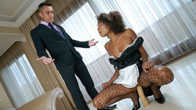 Hot Latin maid gets caught up with her boss
