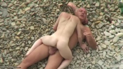 Real Public Sex..Daddy and Daughter Fuck on the Beach
