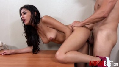 Hot sexy latina girl fucks airport security guard