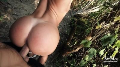 Quick Public Sex at the Lake! Fit Amateur Couple