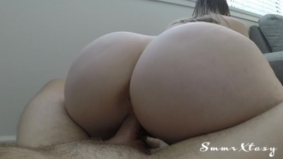 Amateur fat ass housewife loves riding cock..Pov