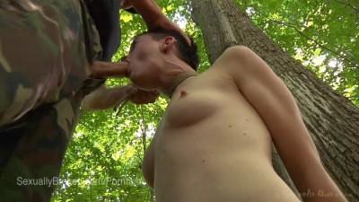 Rough sex in woodland
