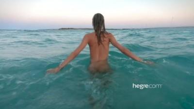 Blonde model walk and swim in ibiza beach - HotGirlClub