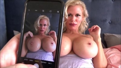 Slut stepmother takes nude pictures of her step son