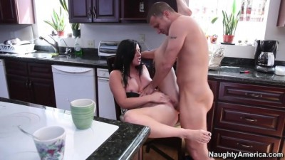 Morning rough fuck in the kitchen
