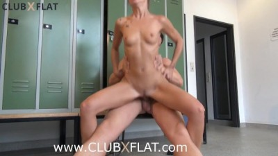CLUBXFLAT - Risky fucking in the locker room after sports