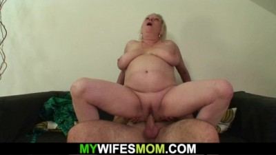 Old horny girlfriends mother loves rides cock