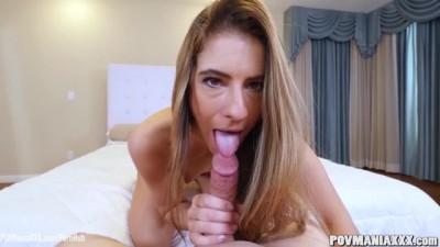 Tara Ashley gives great so hot blowjob POV