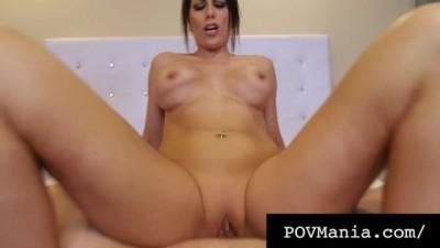POVMania - Cocksucker Brunette MILF Makayla Cox RidingCock!