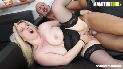 Busty Italian Mommy Hard Fast Ass Fucked By Her Son In Law