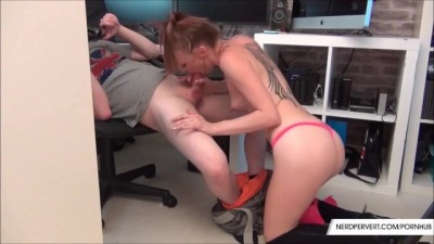 NerdPervert - Petite Redhead Slut Paige Fox Hungry For Cock