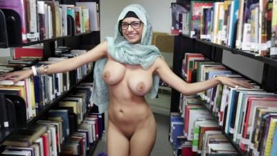 MIA KHALIFA - Library poor fucking arab girl