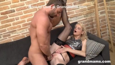 Blonde horny milf is holding a special gigolo