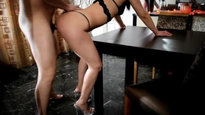 Greek sexy whore girl hot fucked on the table
