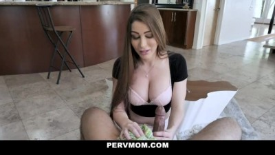 Perv Mom - Busty Beauty Gags On Her Stepson's Big Dick